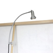 display LED lampe mit klammer, silber